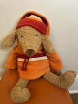 "Bath And Body Works Stuffed Plush Dog Barker Stuffed Animal Hoodie 16"" - $13.86"