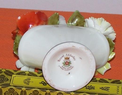 Royal Addlery Flower Basket Fine China England  image 3