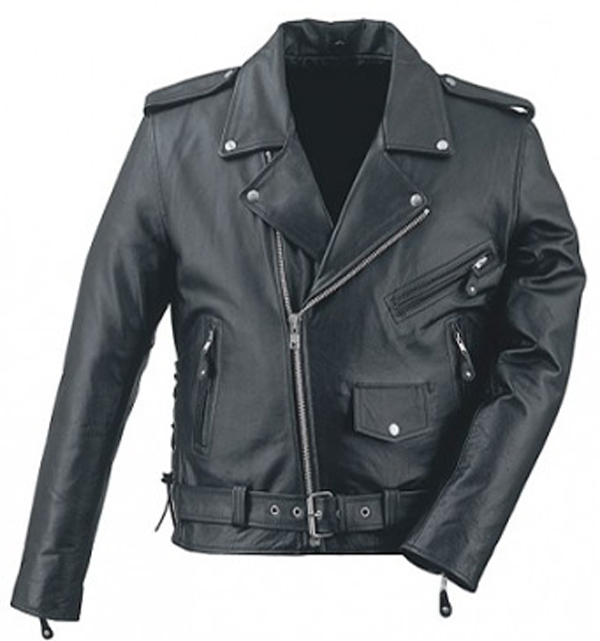 Men 2013 real leather protective motorbike jacket