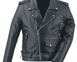 Men 2013 real leather protective motorbike jacket thumb155 crop