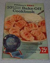 Pillsbury's Best 10th Grand National Bake Off Cookbook Recipes 1958 image 1