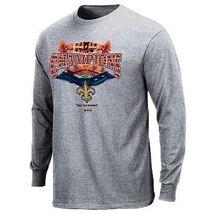 New Orleans Saints Super Bowl Champions Ls Shirt Gray L - $18.82