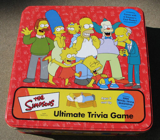 The Simpsons Ultimate Trivia Game in Collectors Tin