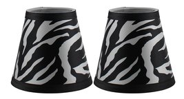 Urbanest Set of 2 Zebra Print Hardback Chandelier Lamp Shade, 3-inch by 5-inch b - $15.83
