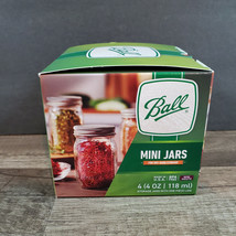 Ball Mini Jars 4 - 4 oz. Dry Storage Spices Herbs - $10.88