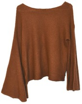 BP. Nordstrom Women's Oversized Flared Long Sleeve Brown Knit Sweater Size XS image 2
