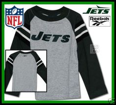 New York Jets New Football Kids Size 7 Reebok Shirt L - $21.10