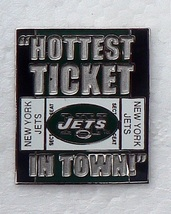 NEW YORK JETS free shipping HOT TICKET METAL FOOTBALL B HAT CAP JERSEY PIN - $11.48