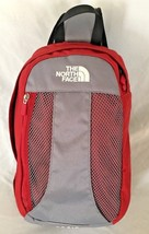 Red Gray 5X12X13 The North Face Adjustable Backpack Purse with 9 Compart... - $36.68