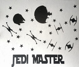 Star Wars Wall Decals  / Jedi Master Wall Decal / Kids Room Wall Decal /... - $45.00