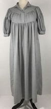 Vintage Brownstone Studio NY Cotton Flannel Nightgown Gray White Size Pe... - $42.08