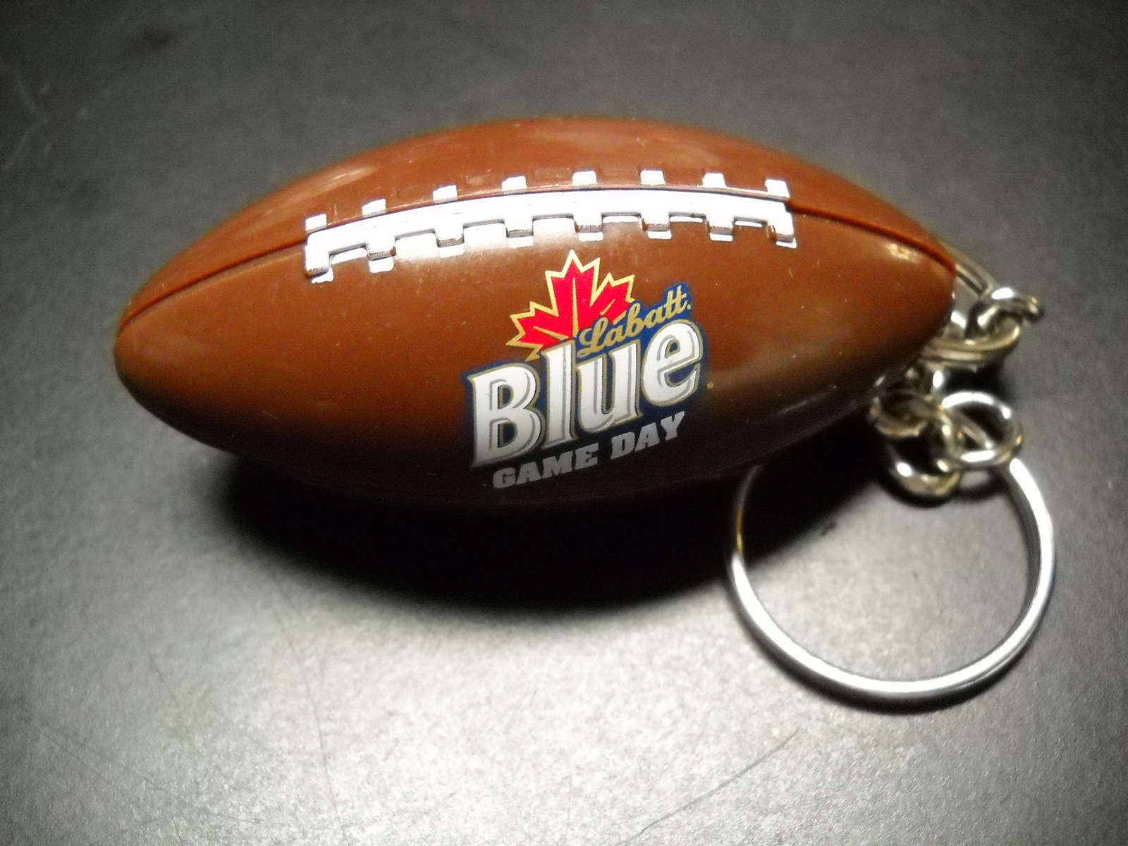 Key chain labatt blue game day football combo bottle opener 06