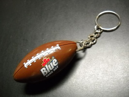 Labatt Blue Game Day Key Chain and Bottle Opener Brown Football Shape with Laces image 3