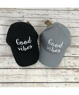 """""""GOOD VIBES"""" - CC Embroidered Adjustable Ball Cap Hat - OS Fits Most - $16.79"""