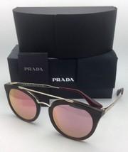 Neu Prada Sonnenbrille Spr 23S USG-5L2 52-22 Gestreift Braun & Gold Rahmen mit /