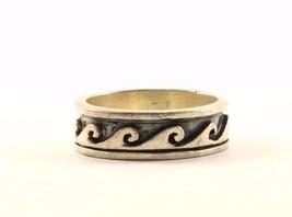 Vintage Wave Design Band Ring 925 Sterling RG 1924 - $20.73