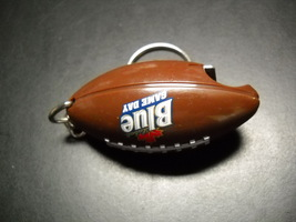 Labatt Blue Game Day Key Chain and Bottle Opener Brown Football Shape with Laces image 4