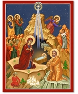 "Star of Bethlehem Icon - 11"" x 14"" plaque With Lumina Gold     - $81.95"
