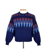 Vintage 1990s Demetre Ski Sweater Jumper Wool Knit Mens Size S Cropped B... - $84.14