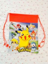 Pokemon Red Drawstring Backpack Sling Tote Pikachu New! More Characters Too - $6.25