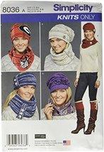 Simplicity Patterns Misses' Cold Weather Accessories Size: A (S-M-L), 8036 - $13.48