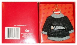 OAKLAND L A RAIDERS WINTER SWEATER CHRISTMAS ORNAMENT RARE MADE BY RUSS  - $13.23