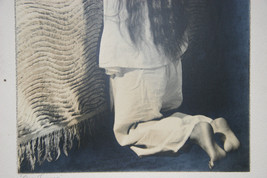 SILVER GELATIN PHOTOGRAPH A LITTLE GIRL PRAYING PHOTO image 4