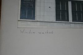 BLACK & WHITE SILVER GELATIN PHOTOGRAPH TITLED WINDOW WASHER image 3