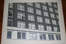 BLACK & WHITE SILVER GELATIN PHOTOGRAPH TITLED WINDOW WASHER image 1