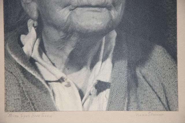 MINE EYES HAVE SEEN ~ SILVER GELATIN PHOTO PHOTOGRAPH SIGNED VELMA STEINER