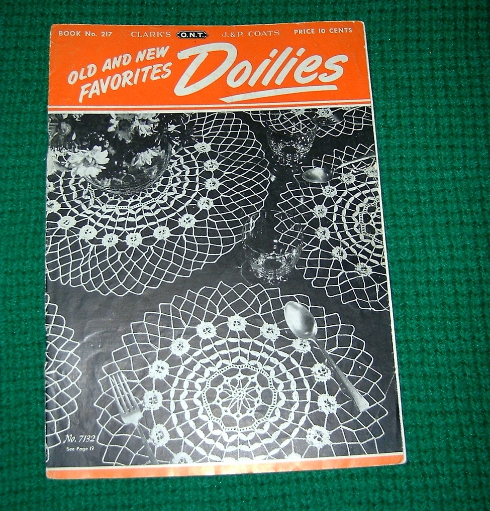 Old & New Favorites Doilies Book No 217 Spool Cotton Company Crochet image 1