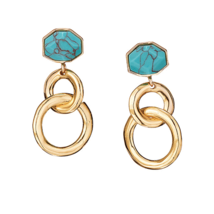 Avon Luxe Look of Turquoise Earrings - $8.99