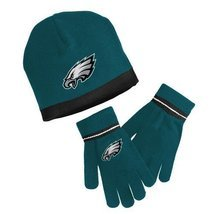 PHILADELPHIA EAGLES FREE SHIPPING KIDS BOYS GIRLS KNIT CAP HAT & GLOVES ... - $386,91 MXN