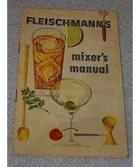 Vintage Fleischmann's Mixer Manual Liquor Cocktail Distiller - $6.00