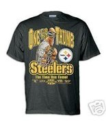 PITTSBURGH STEELERS FREE SHIPPING SUPER BOWL CHAMPS 2006 BLACK MENS SHIR... - $17.23