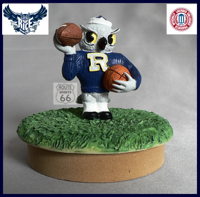 RICE OWLS SAMMY MASON JAR FREE SHIPPING COIN,CANDY,CANDLE SPORT COVER - $13.70
