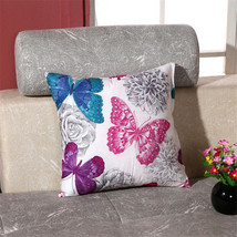"""18"""" Fashion Home Office Car Decor Butterfly Printed Pillow Case Cushion Cover - $3.59"""