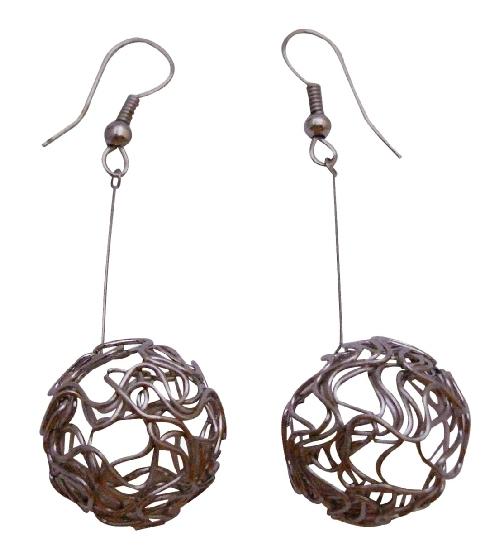 Designer Earring In Incredible Price Dangling Ball Earrings