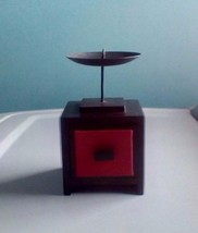 Vintage Wood And Metal Candle Stand With Trinke... - $18.59