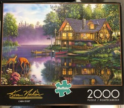 Buffalo Games Jigsaw Puzzle 2000 Pieces CABIN FEVER 38.5 x 26.5 In with Poster image 1