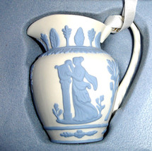 Wedgwood Iconic Pitcher Ornament Jasperware Blue & White New In Box - $34.90
