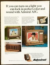 1967 Admiral AFC Color Televisions Print Ad Stewart Kennison Carlton Models - $11.69