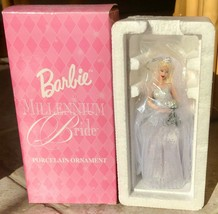 Avon Barbie Millennium Bride Porcelain Ornament 2000 NIB - $9.90