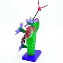 Handmade Alebrijes Oaxacan Painted Wood Folk Art Flowering Prickly Pear Cactus image 3