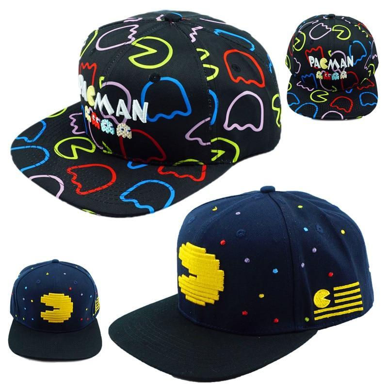 Primary image for Pac Man Hat PACMAN Shape Little Ghost Game Baseball Snapback Caps Adjustable Hip