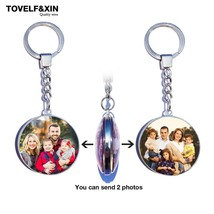 DIY Double Side Photo Custom Keychain Personalized Keyrings Customized G... - $12.00