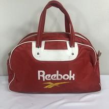 VTG 80s Reebok Duffle Bag Workout Gym Logo Red Bag Zipper Pump Classic - $32.14 CAD
