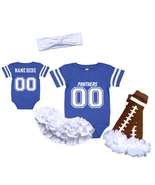 Personalized Carolina  Panthers Girls Custom Jersey Uniform Onesie  - $27.95+