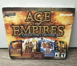 Age of Empires: Collector's Edition (PC, 2006) 3 CD Limited Edition - Te... - $29.65
