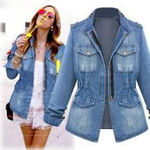 Women's Vintage European Style Trendy Denim Jacket image 2